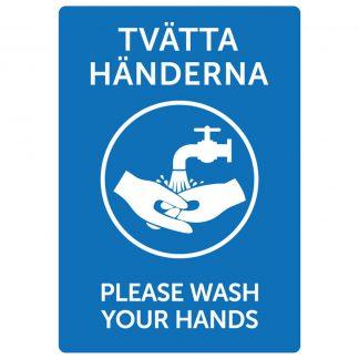 Dekal Tvätta Händerna / Please Wash Your Hands