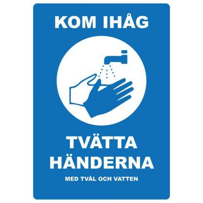 Dekal - Tvätta händerna med tvål och vatten