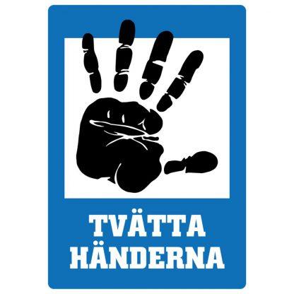 Dekal Blå - Tvätta Händerna