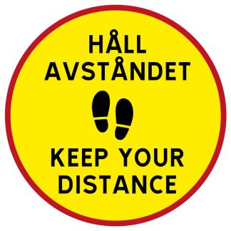 Golvdekal - Håll avståndet • Keep Your Distance