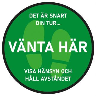 Golvdekal Vänta Här - Grön