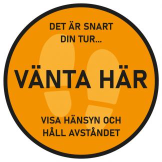 Golvdekal Vänta Här - Orange